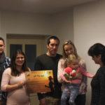 Předávání výtěžku 2. ročníku Běhu
